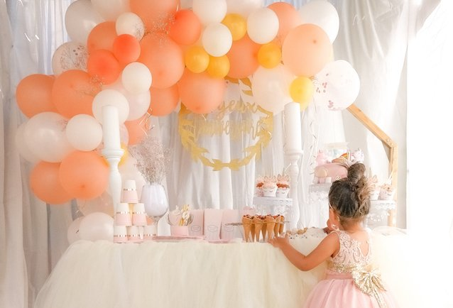 décoration anniversaire girly pour une petit fille